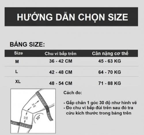 Hướng dẫn chọn size đai bảo vệ khớp gối chân Elips01